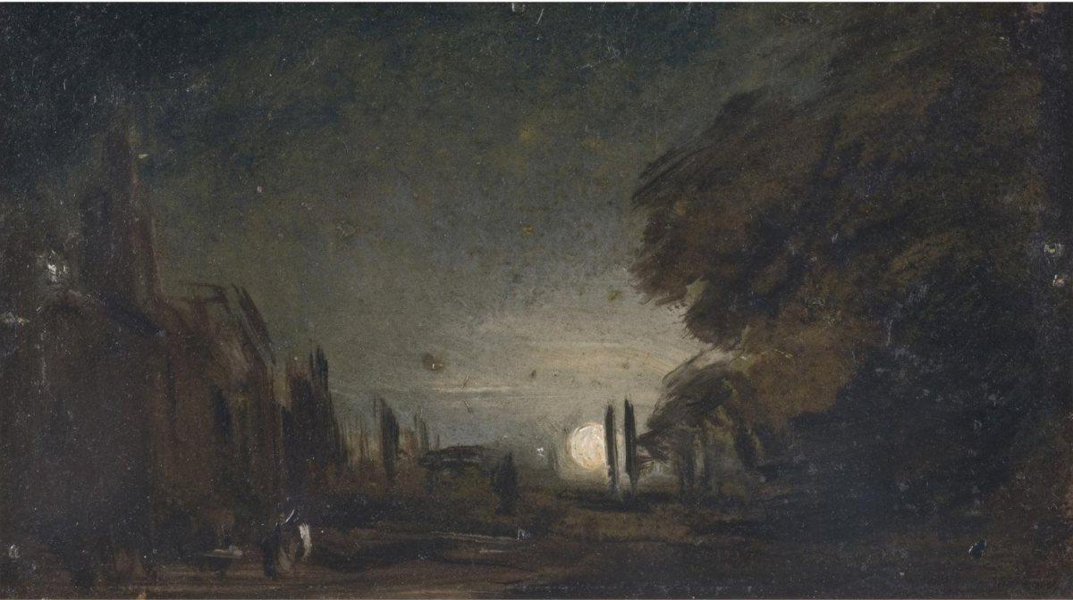 """""""Rising Moon,"""" John Constable, c. 1810"""