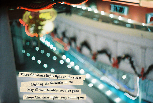 the daily song coldplay christmas lights