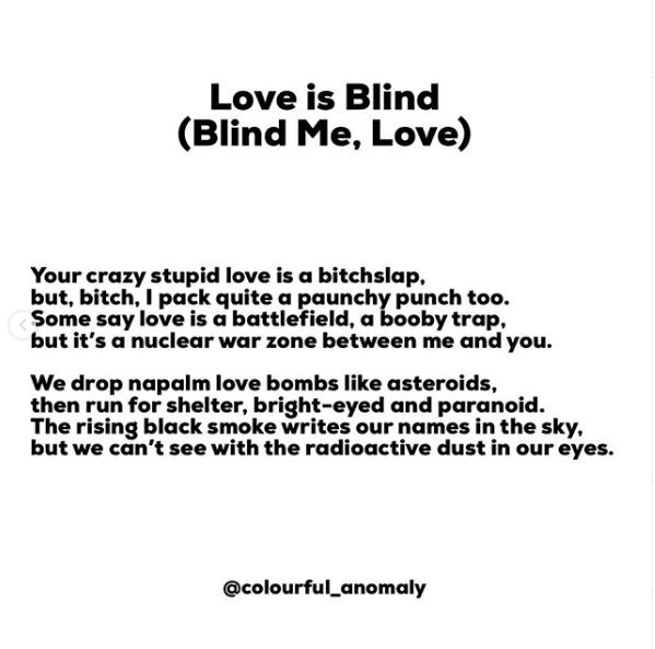 Love is Blind her name in the sky