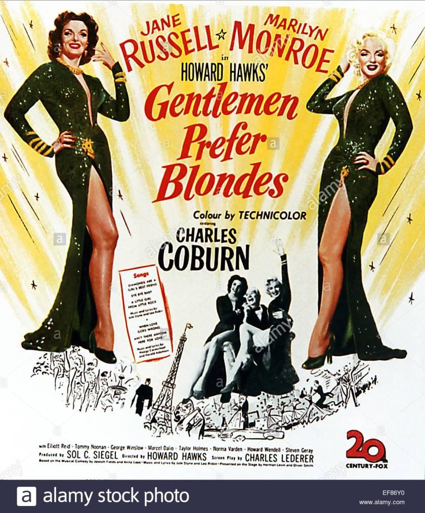 1953, GENTLEMEN PREFER BLONDES
